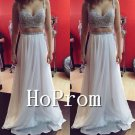 Spaghetti Straps Prom Dress,Two Piece Prom Dresses