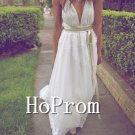 Spaghetti Straps Prom Dress,V-Neck Prom Dresses