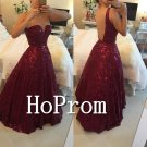 Strapless Beading Prom Dress,A-Line Prom Dresses