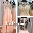 Sleeveless Long Prom Dress,A-Line Prom Dresses