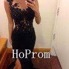 Black Mermaid Prom Dress,Floor Length Prom Dresses