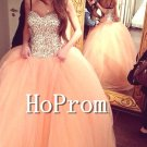 Sweetheart Long Prom Dress,Beading Sparkly Prom Dresses