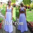 Cross Back Prom Dress,A-Line Chiffon Prom Dresses