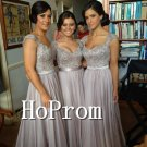 Sleeveless Beading Prom Dress,A-Line Prom Dresses