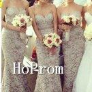 Sweetheart Long  Prom Dress,Lace Mermaid Prom Dresses