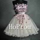 A-Line Strapless Prom Dresses,Short Mini Prom Dress