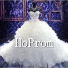 Strapless Tulle Prom Dresses,Ruffles Wedding Dresses
