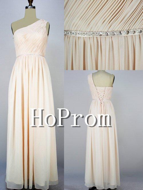 One Shoulder Prom Dresses,Chiffon Prom Dresses