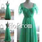 Green Chiffon Prom Dresses,A-Line Prom Dresses