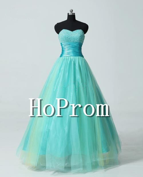 A-Line Prom Dresses,Bandage Tulle Prom Dresses