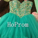 Short Beaded Prom Dresses,A-Line Prom Dresses