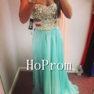Sweetheart Beaded Prom Dresses,A-Line Prom Dresses