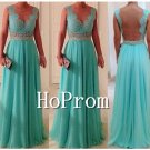 A-Line Prom Dresses,Lace Chiffon Prom Dresses
