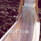 Strapless Sequin Prom Dresses,A-Line Prom Dresses