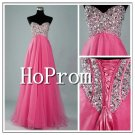 Beaded Tulle Prom Dresses,A-Line Prom Dresses