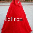 Sweetheart Red Prom Dresses,Ruffles Prom Dresses