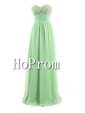 Strapless Chiffon Prom Dresses,A-Line Prom Dresses