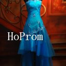 High Low Prom Dresses,Strapless Prom Dress