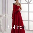 One Shoulder Prom Dresses,Red Prom Dress