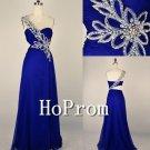 Royal Blue Prom Dresses,One Shoulder Prom Dress