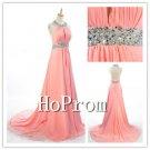 Open Back Prom Dresses,Halter Prom Dress