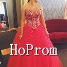 Sweetheart Tulle Prom Dress,Floor Length Prom Dresses