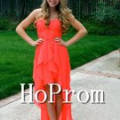 High Low Prom Dress,A-Line Long Prom Dresses