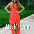 High Low Prom Dress,A-Line Long Prom Dresses