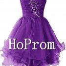 Sweetheart Short Prom Dress,Beading Tulle Prom Dresses