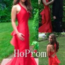 Red Mermaid Prom Dress,Floor Length Prom Dresses