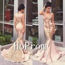 V-Neck Mermaid Prom Dress,Floor Length Prom Dresses