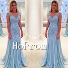 Sleeveless Lace Prom Dress,A-Line Prom Dresses