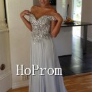Off Shoulder Prom Dress,Sparkly Long Prom Dresses