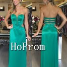 Sweetheart Long Prom Dress,Green Satin Prom Dresses