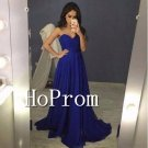Sweetheart Chiffon Prom Dress,Floor Length Prom Dresses