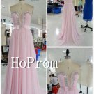 A-Line Pink Prom Dress,Strapless Sexy Long Prom Dresses