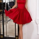 Cute Little Homecoming Dress with Ribbow, Short Red Dress