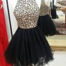 Black Tulle A-line Luxurious Homecoming Dress