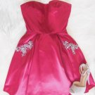 Sweetheart Beaded Cute Pink Homecoming Dress