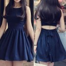 A Line Sexy Strapless Homecoming Dress,Royal Blue  Bowknot Homecoming Dress