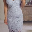 Sweetheart Close-Fitting Gray Lace Sexy Homecoming Dress