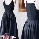 Deep V Neck Homecoming Dress , Black Summer Party Sexy Strapless Homecoming Dress