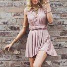 Bowknot Short Homecoming Dress, Pink Deep V Neck Strapless Homecoming Dress