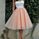 Tulle Off Shoulder Homecoming Dress, Pink Sweetheart Homecoming Dress