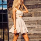 Champagne Champagne Short Prom Dress, Simple Two Pieces Homecoming Dress
