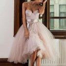 Tulle Tea-Length Sweetheart Homecoming dress