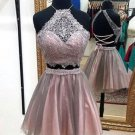 Short Prom Dress, Cute Lace Tulle Homecoming Dress