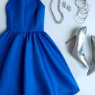 Simple Strapless Homecoming Dresses, Royal Blue Homecoming Dress