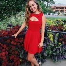 Cheap A-Line Short Red Homecoming Dresses