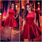 Sleeveless Designer Red Short Homecoming Dress